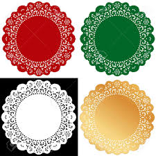 Cake Decorating Books Free by Christmas Lace Doilies Vintage Placemats For Holiday Celebrations