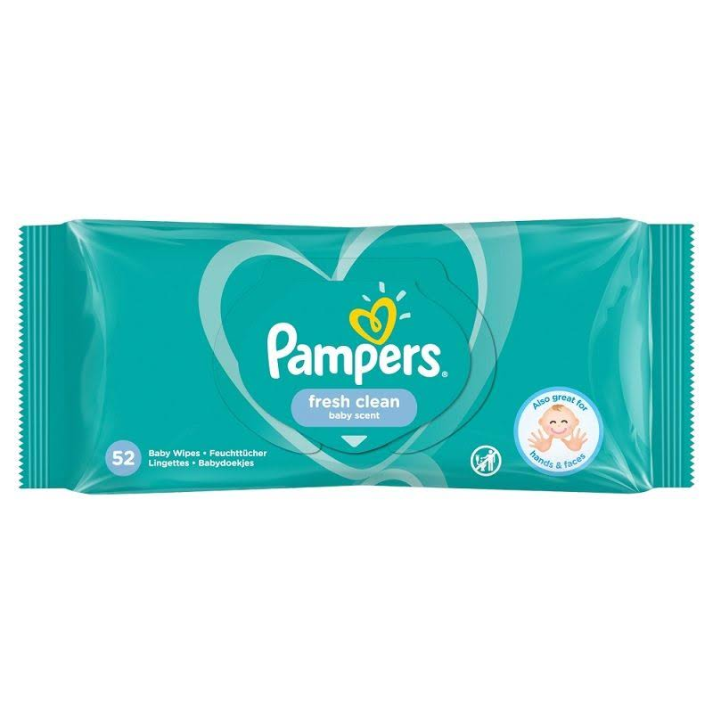 Pampers Baby Wipes - Fresh Clean, 52 Wipes