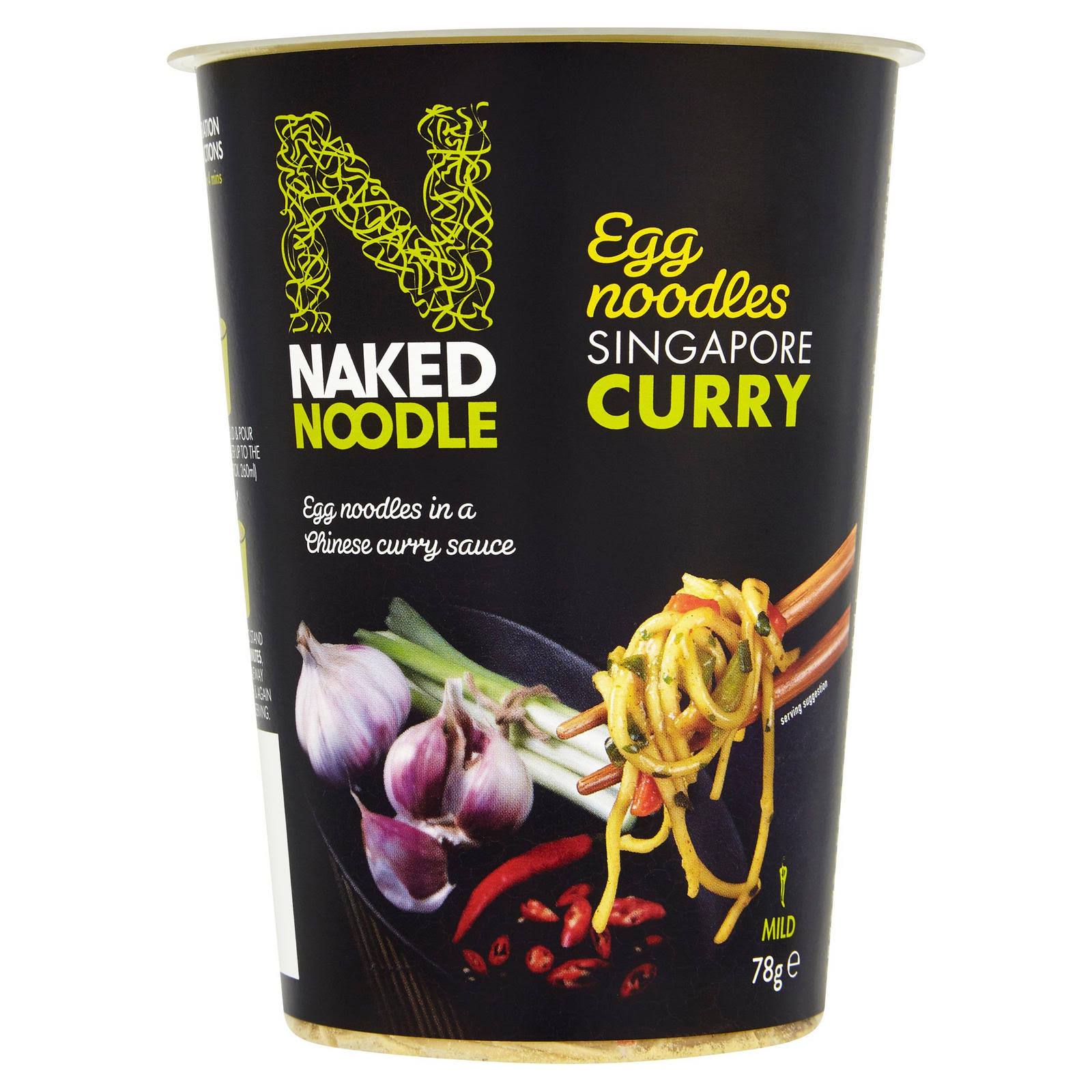 Naked Noodle Egg Noodles - Singapore Curry, 78g