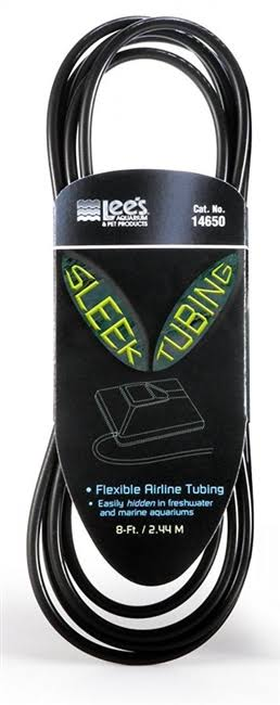 Lee's Stealth Airline Aquarium Tubing - Sleek, Black, 8'