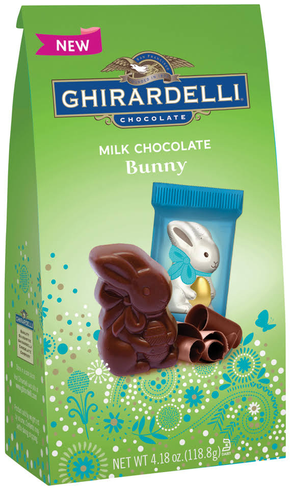 Ghirardelli Bunny, Milk Chocolate - 4.18 oz