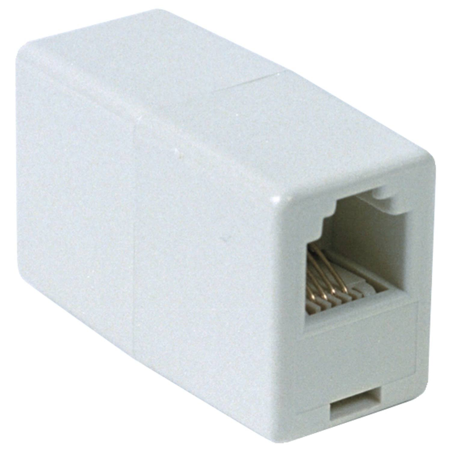Rca In Line Cord Coupler - White