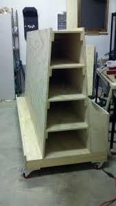 rolling lumber storage rack all repurposed material my
