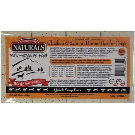 Northwest Naturals Raw Frozen Dinner Bars for Dogs - Chicken and Salmon