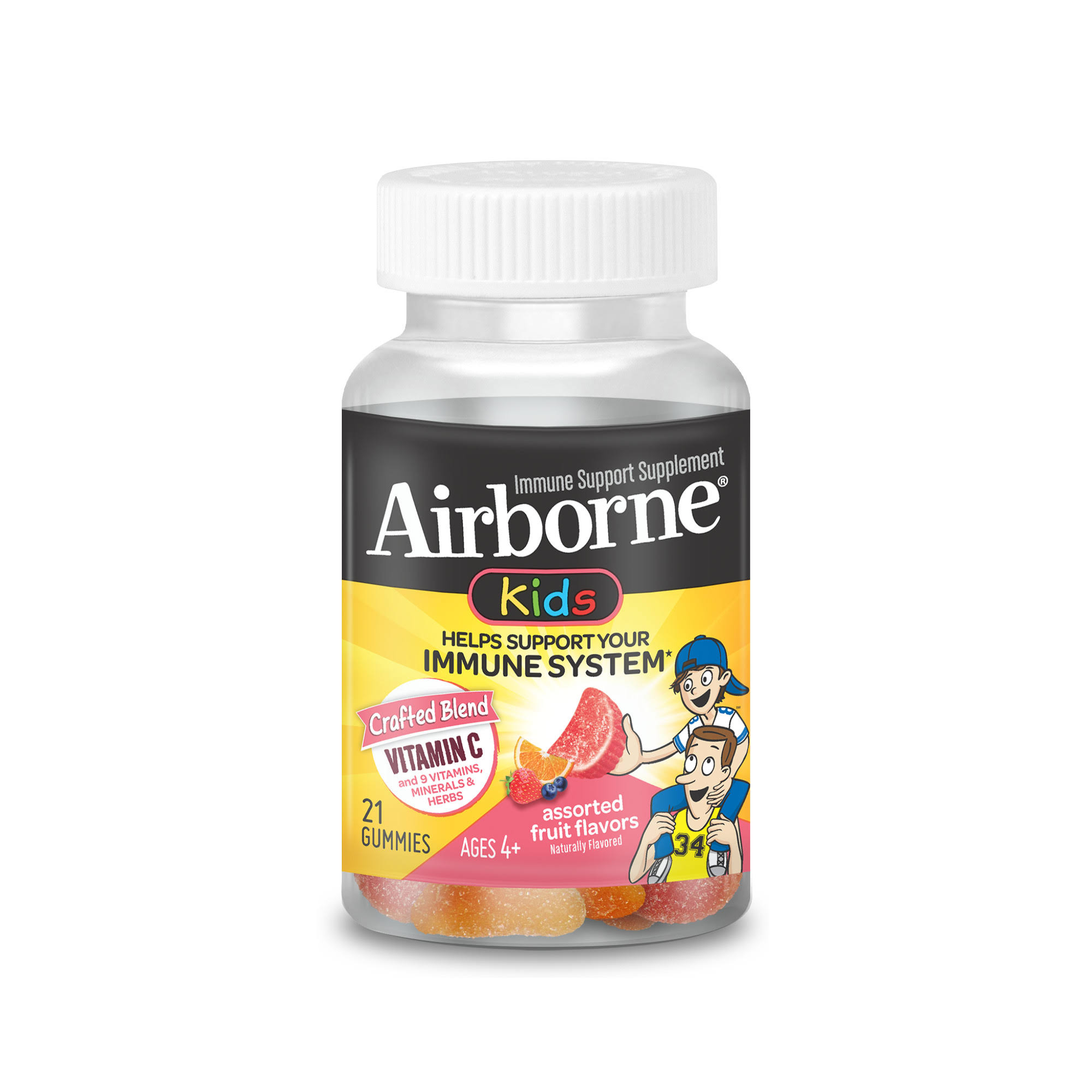 Airborne Kids Gummies Vitamin Immune Support Supplement - 667mg, 21 Gummies