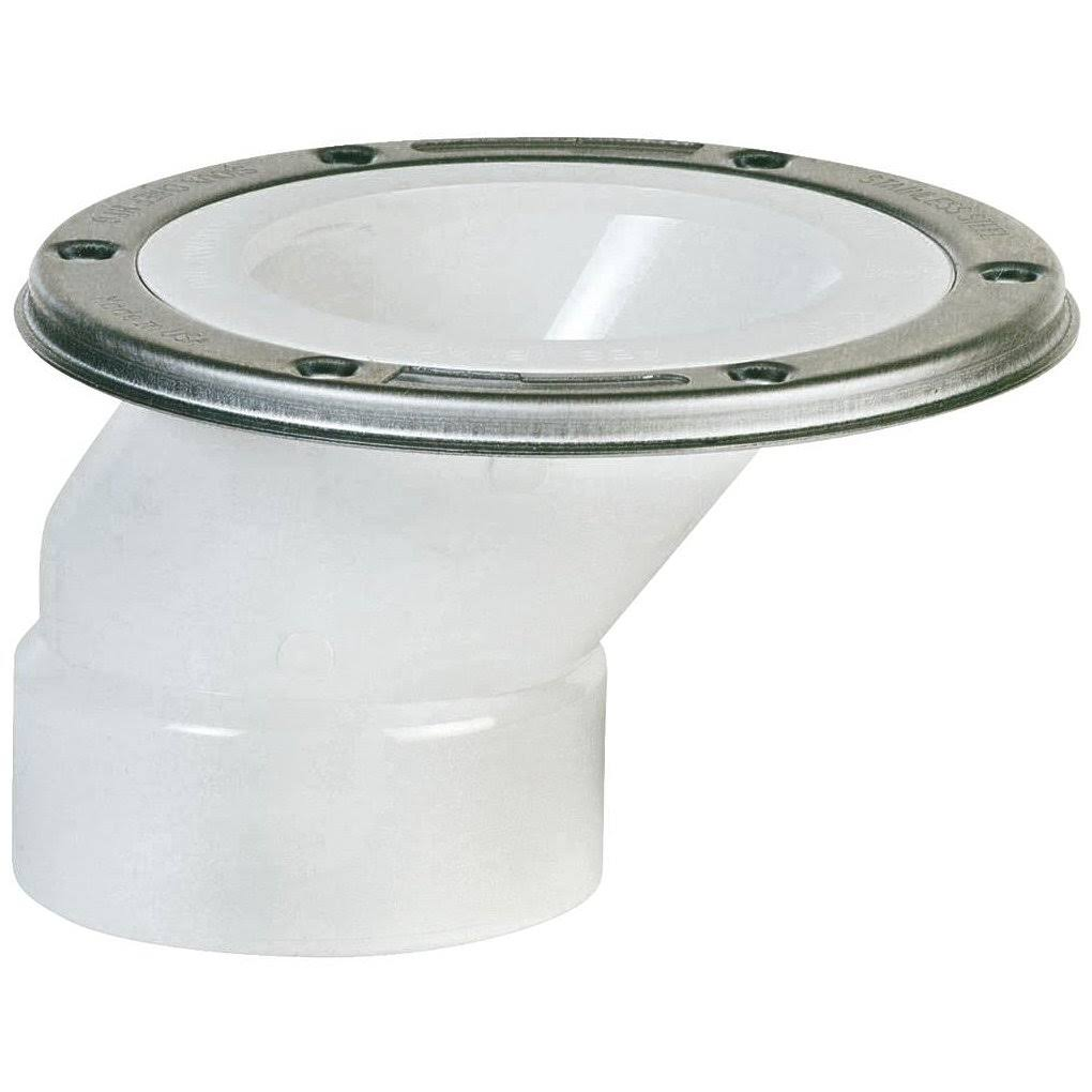 Sioux Chief PVC Offset Closet Flange with Swivel Ring - 3""