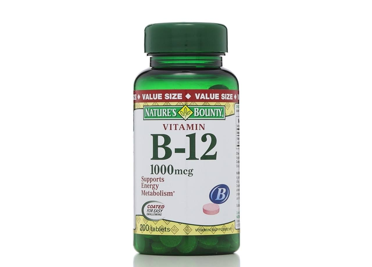 Nature's Bounty Vitamin B-12 Supplement - 1000 Mcg, 200 Count