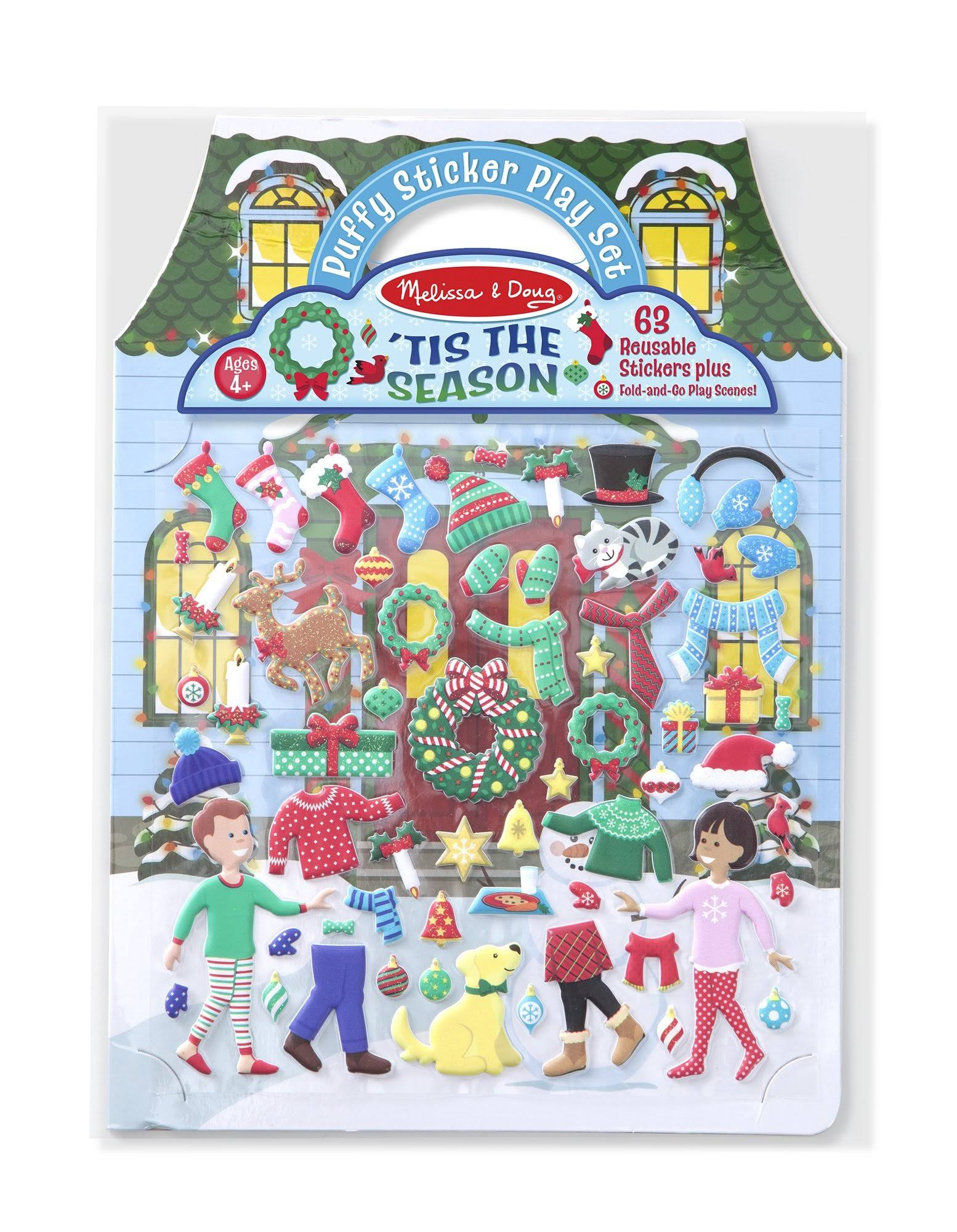 Melissa & Doug | Puffy Stickers | TIS The Season