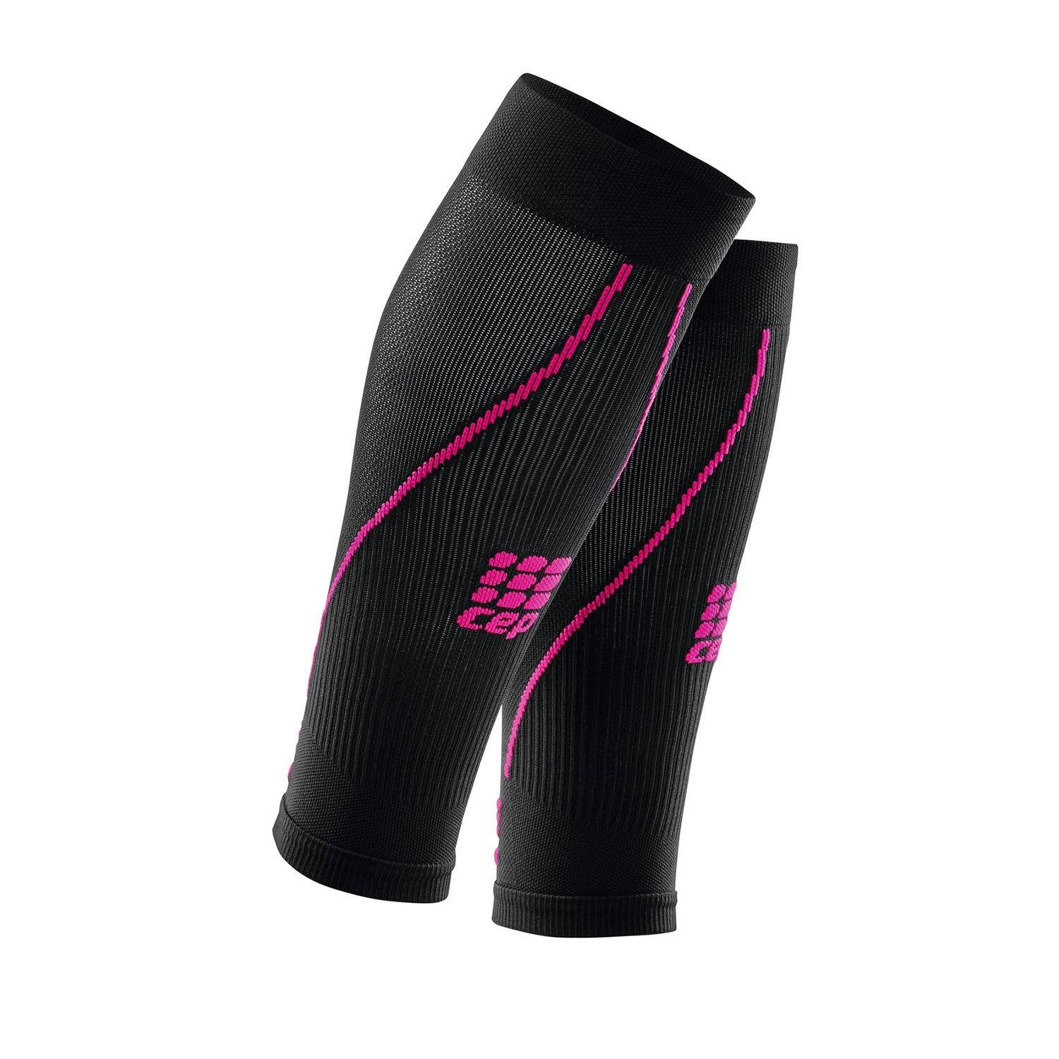 CEP Womens Progressive Calf Sleeves - Black and Pink, Size 2