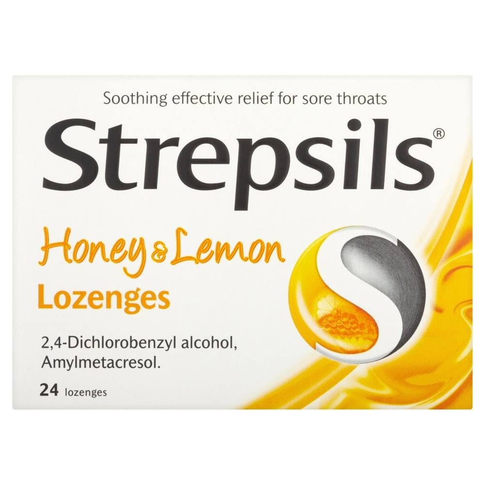 Strepsils Honey and Lemon Lozenges - 24 Pack