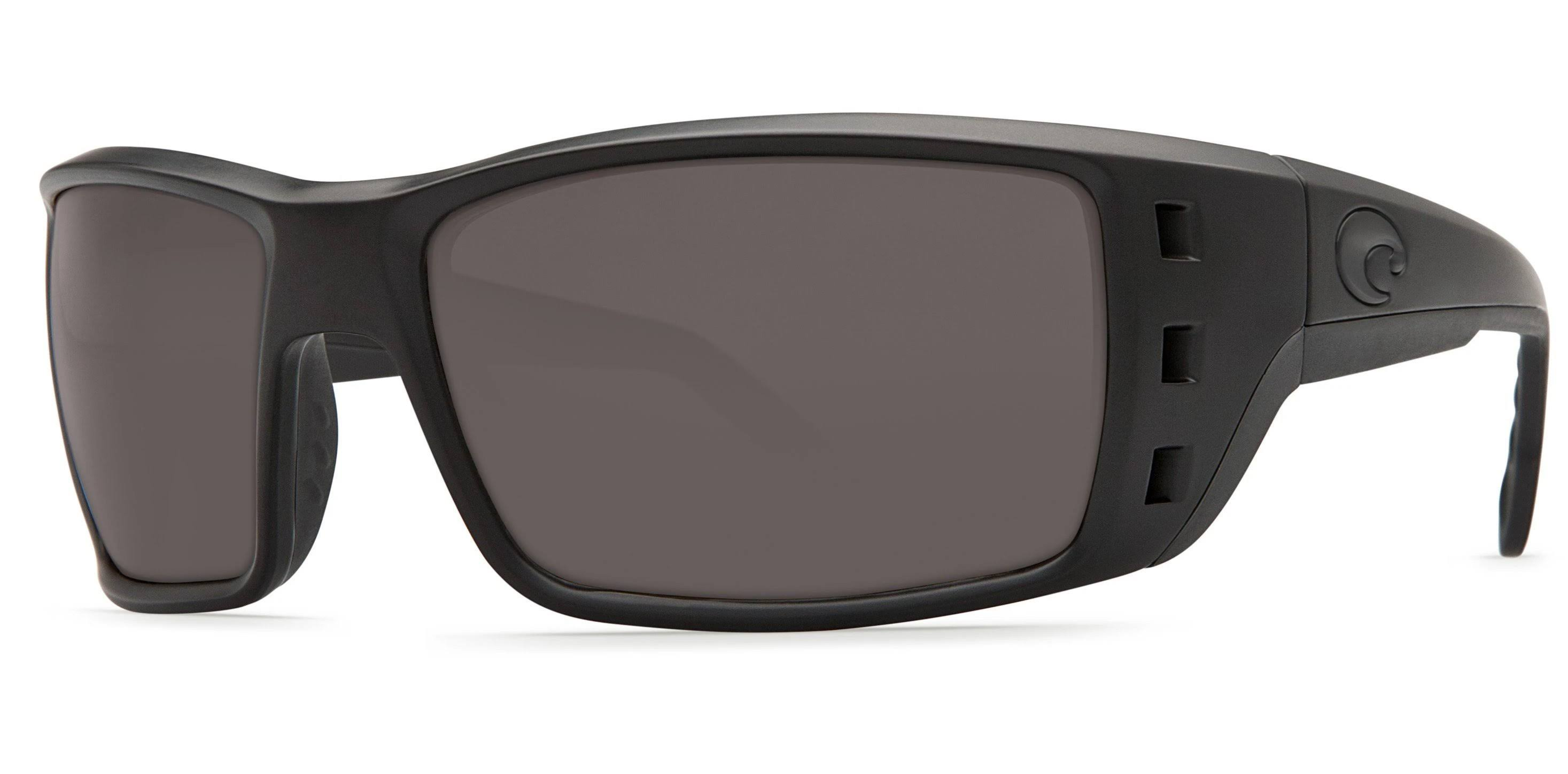 Costa Del Mar Permit PT 01 Blackout Rectangular Sunglasses - Grey, 115mm