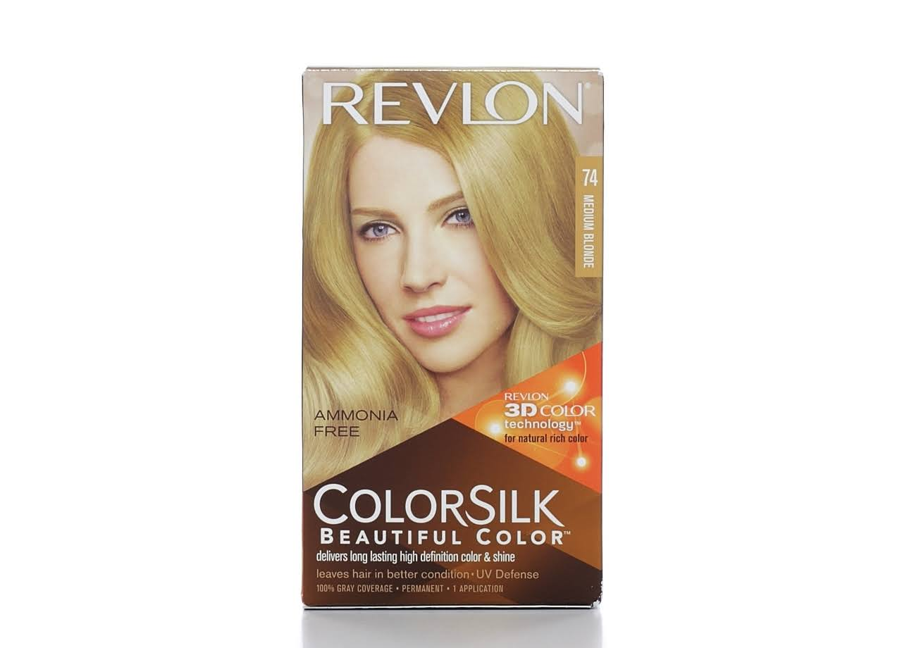 Revlon ColorSilk Beautiful Permanent Hair Color - 74 Medium Blonde