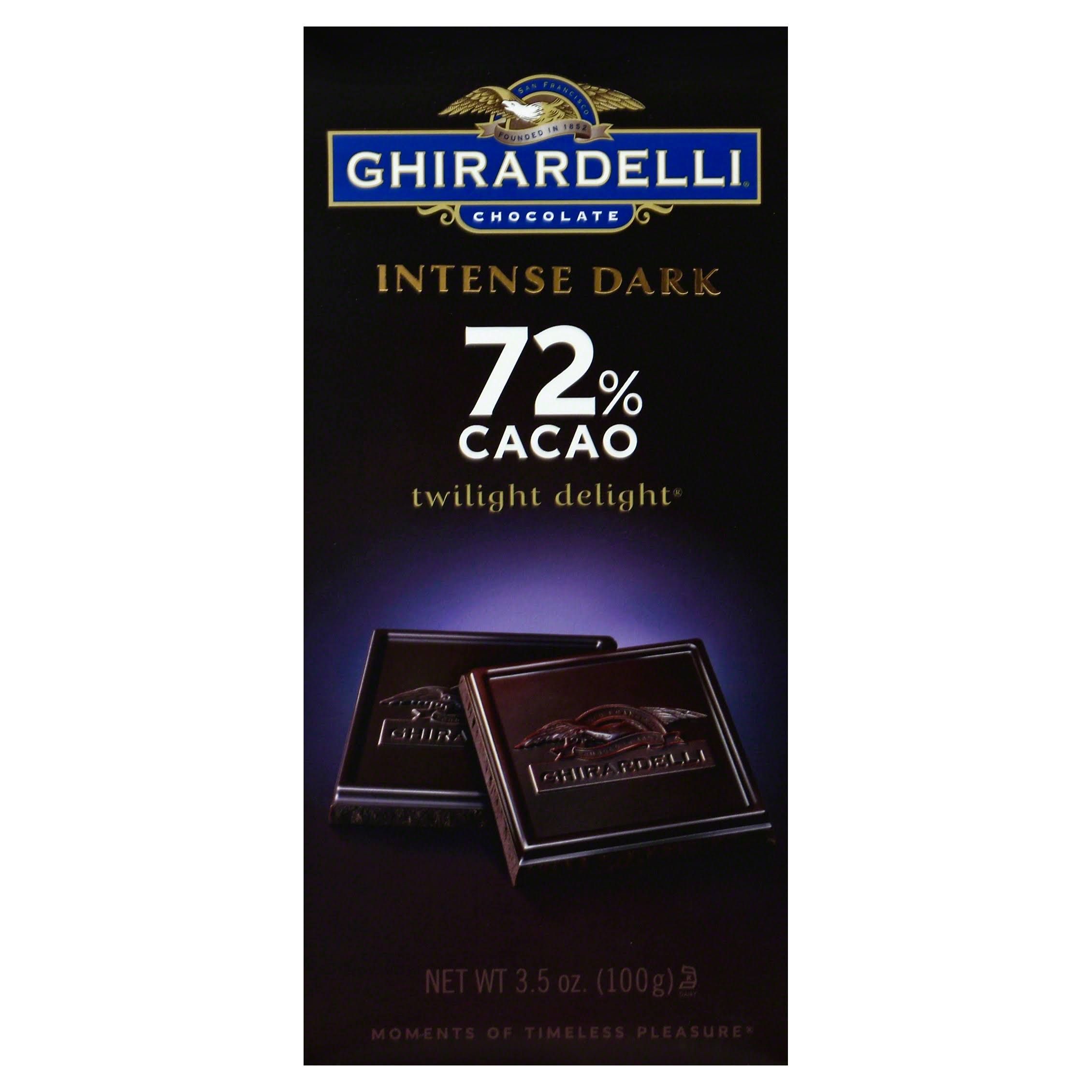 Ghirardelli Chocolate Intense Dark Bar - Twilight Delight, 3.5oz, Pack of 6