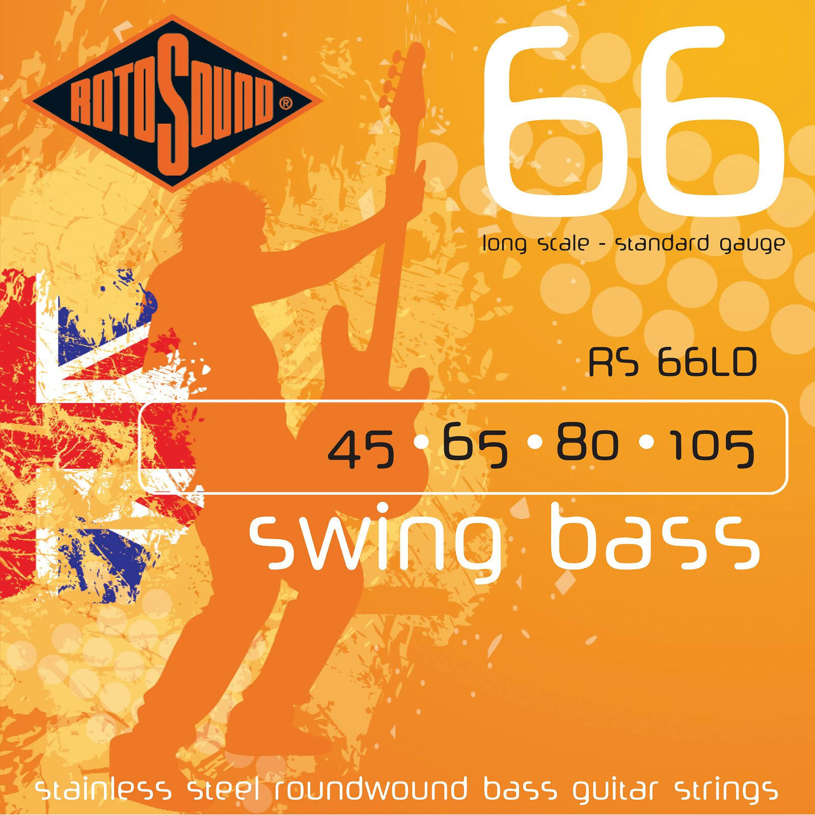 Rotosound Long Scale Swing 66 Bass Guitar Strings