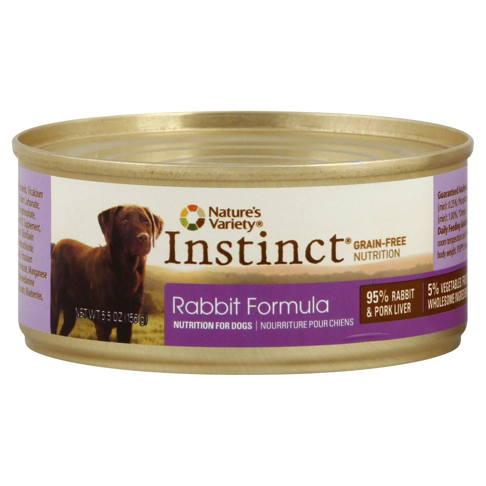 Nature's Variety Instinct Grain-Free Rabbit Canned Dog Food - 5.5oz