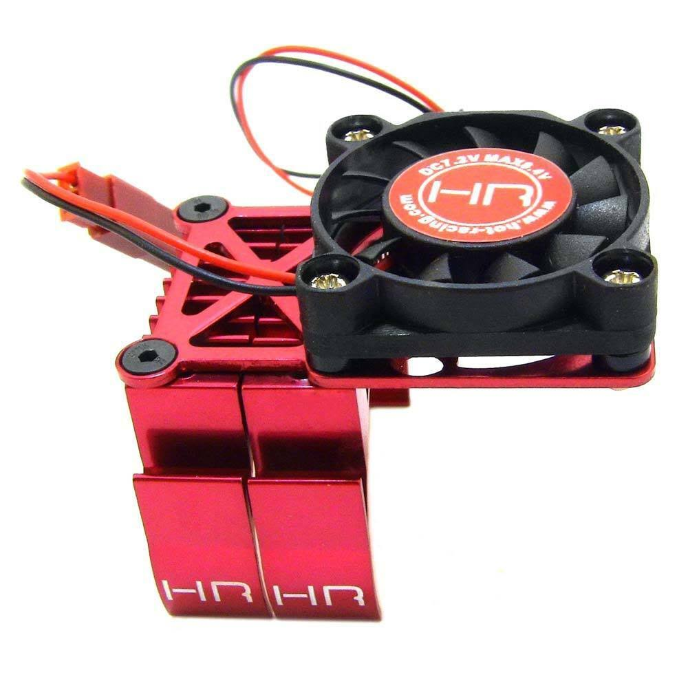 Hot Racing Multi Mount Fan Cool Heat Sink Motor - Red, 36mm