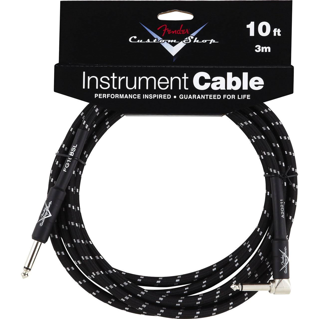 Fender Custom Shop Instrument Cable - Black, 3m