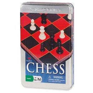 Cardinal Games 58312 Chess Set - Tin Can