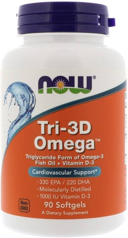 Now Foods Tri-3D Omega Softgels - x90