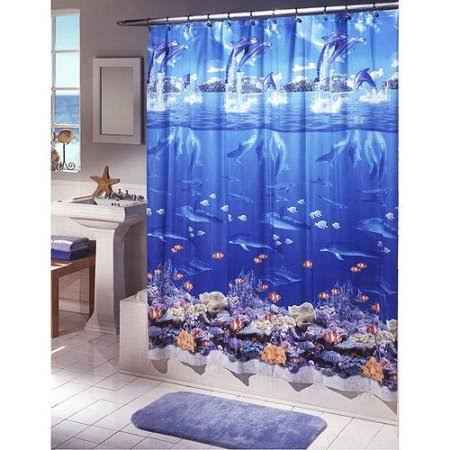 Ex-Cell Home Fashions Sea Life Vinyl Shower Curtain
