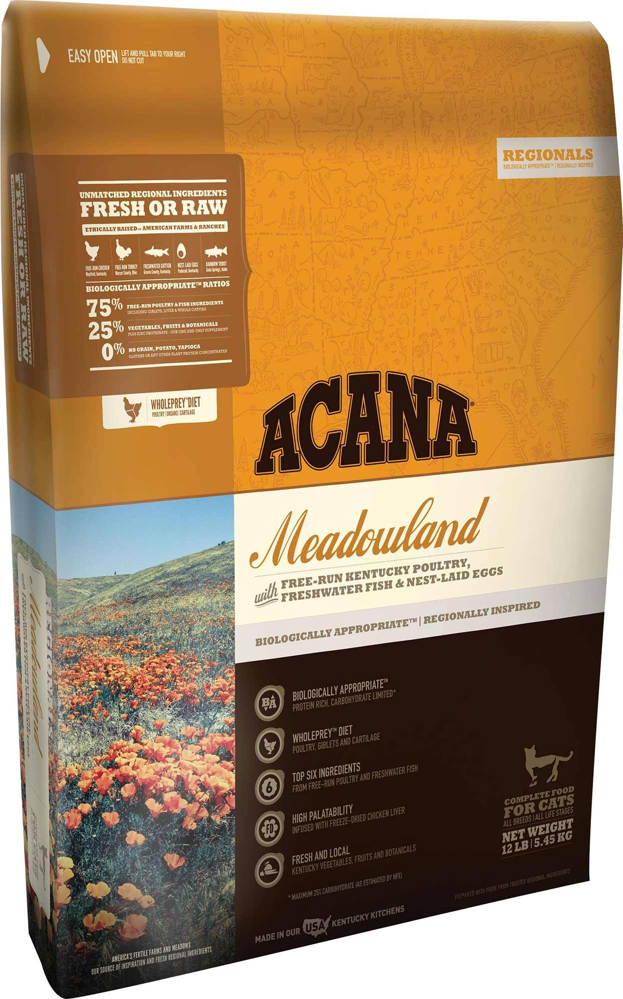 Acana Meadowlands Dry Cat Food - 12 oz bag