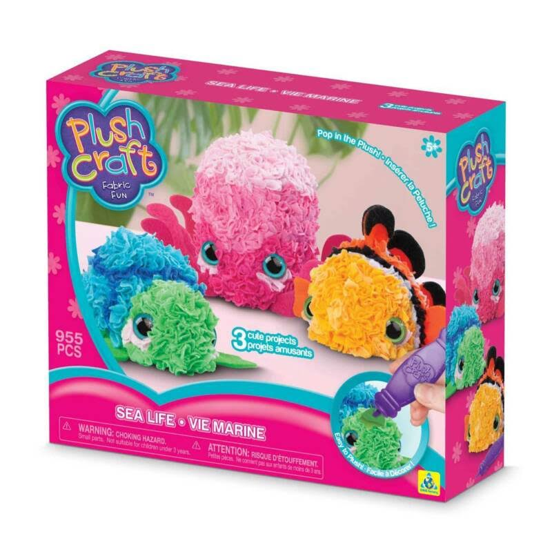 The Orb Factory Plush Craft Kit - Sea Life 3D Soft Craft