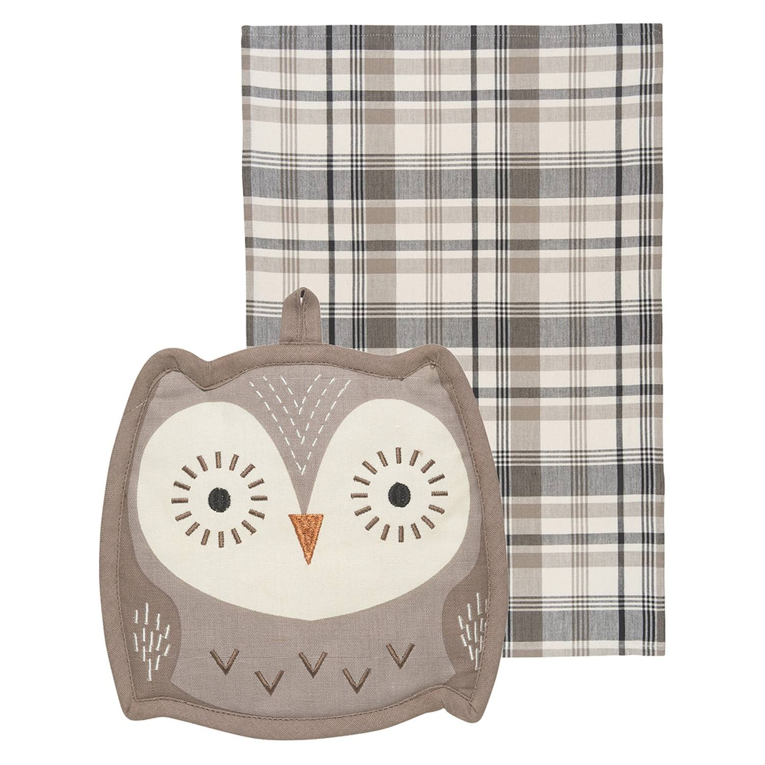 Now Designs Animal Shaped Kitchen Pocket Pals - Owl