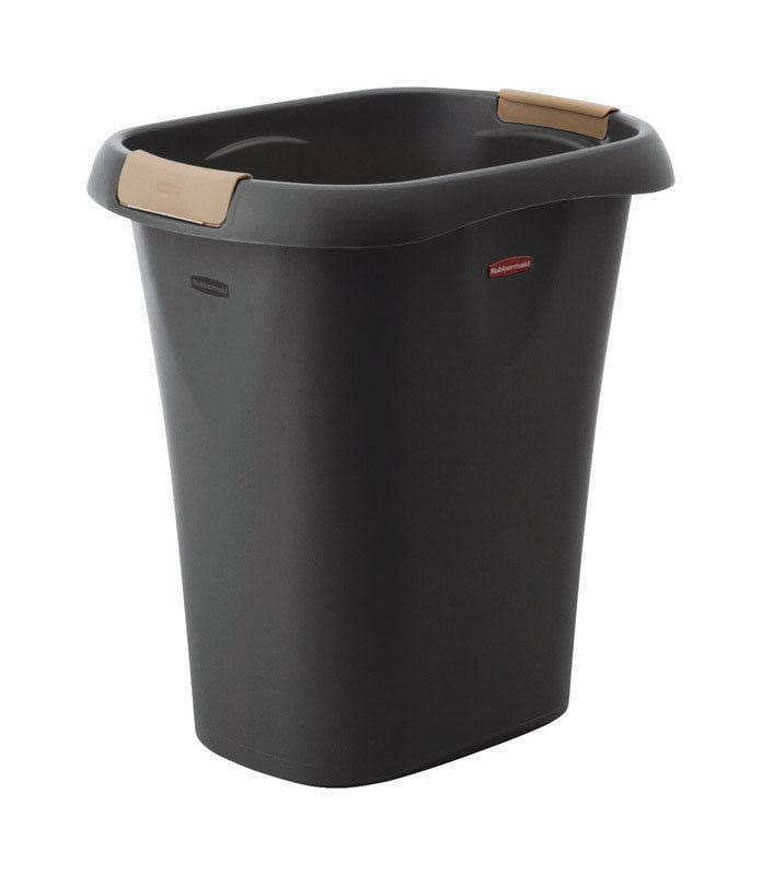 Rubbermaid Plastic Trash Can - Black, 5.25gal
