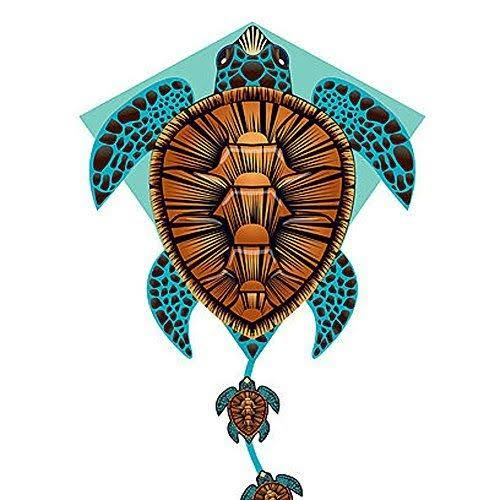 X-Kites DLX Diamond Nylon Kite - Sea Turtle, 26""