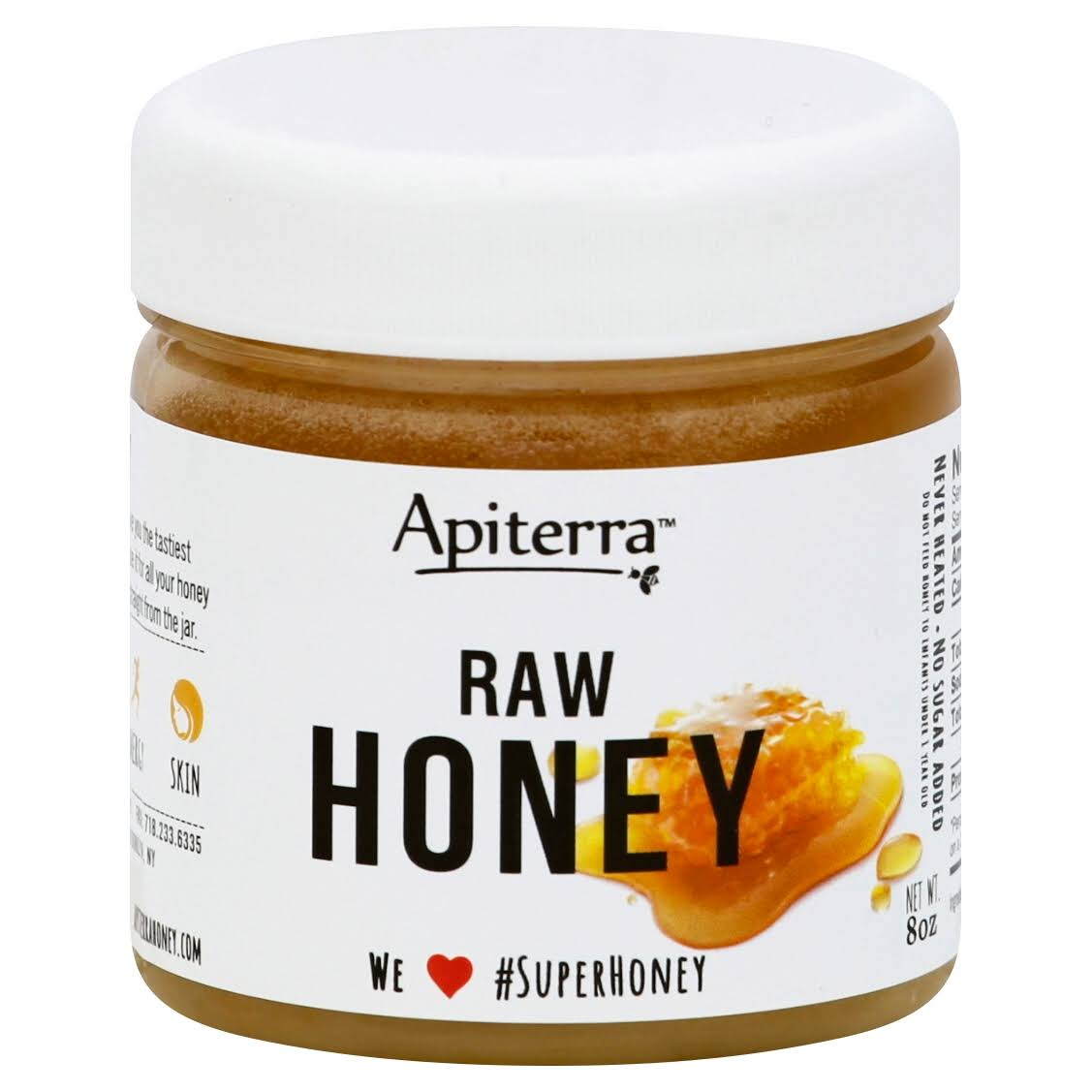 Apiterra Gluten Free Original Superfood Honey - Raw, 8oz