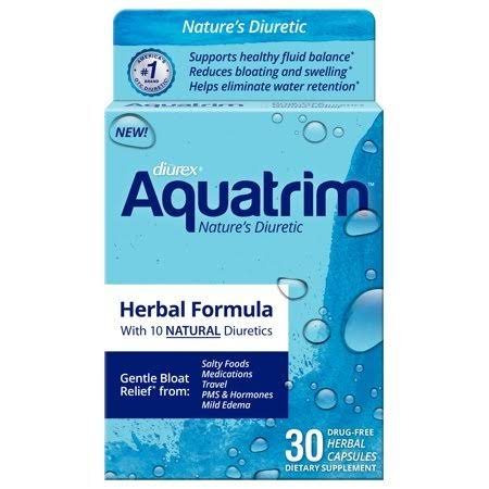 Aquatrim Nature's Diuretic Herbal Bloat Relief Capsules - 30ct