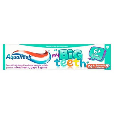 Aquafresh Big Teeth Fluoride Toothpaste - 6+ Years, 50ml