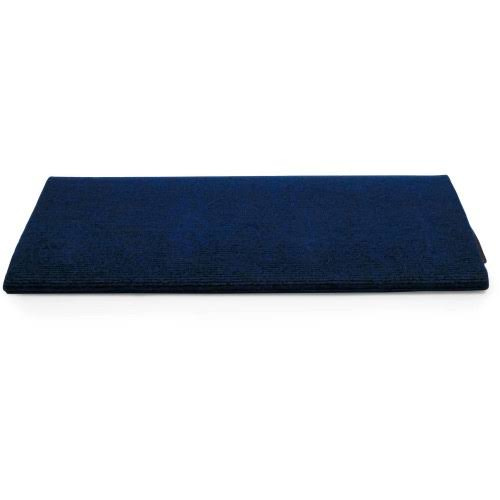 Camco 42910 Premium Wrap Around RV Step Rug, Single Rib Design, 100 Percent Polyester (22 inch x 23 inch), Blue