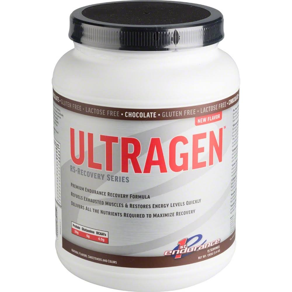 First Endurance Ultragen Recovery Energy Drink - Chocolate, 15 Serving