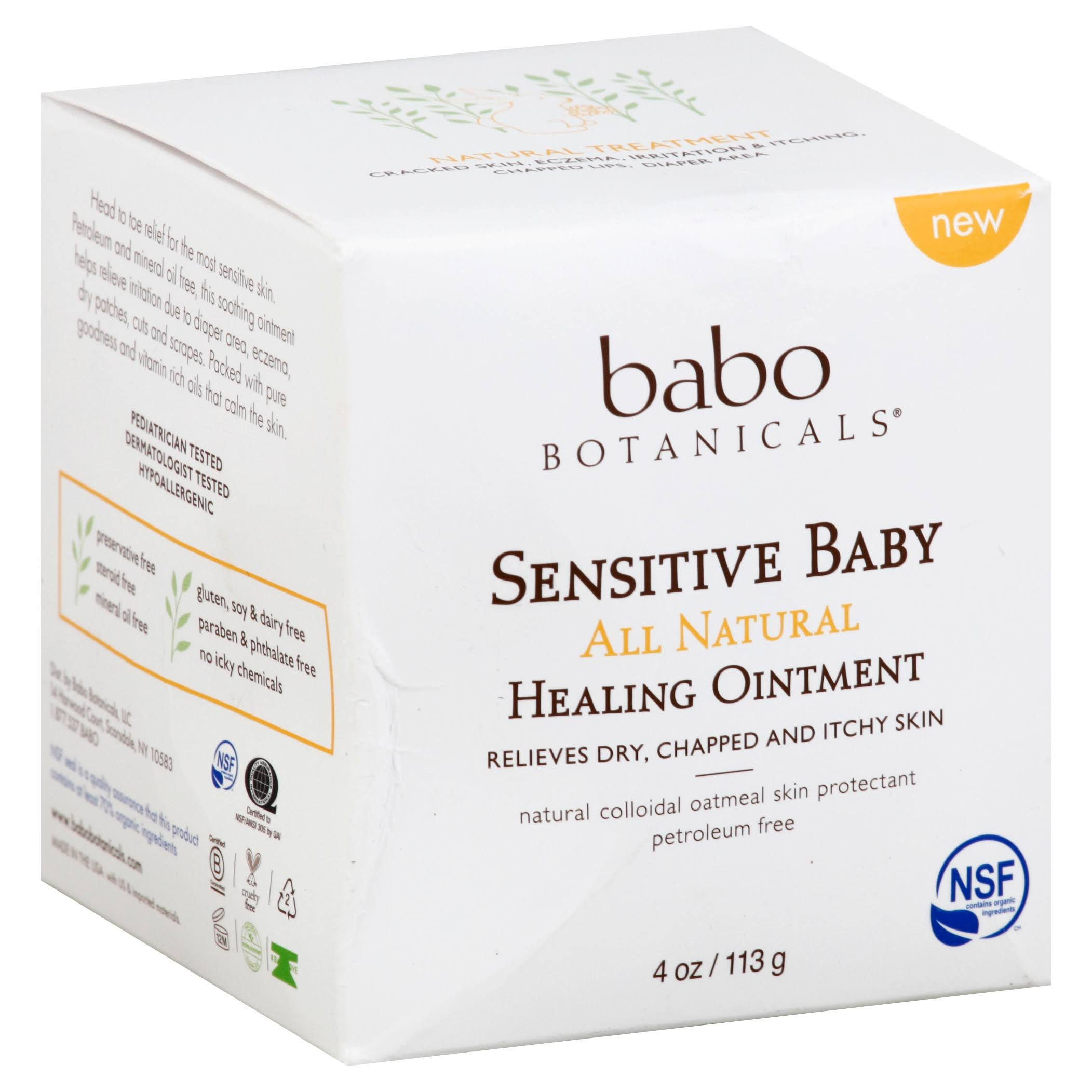 Babo Botanicals Sensitive Baby All Natural Healing Ointment - 4oz