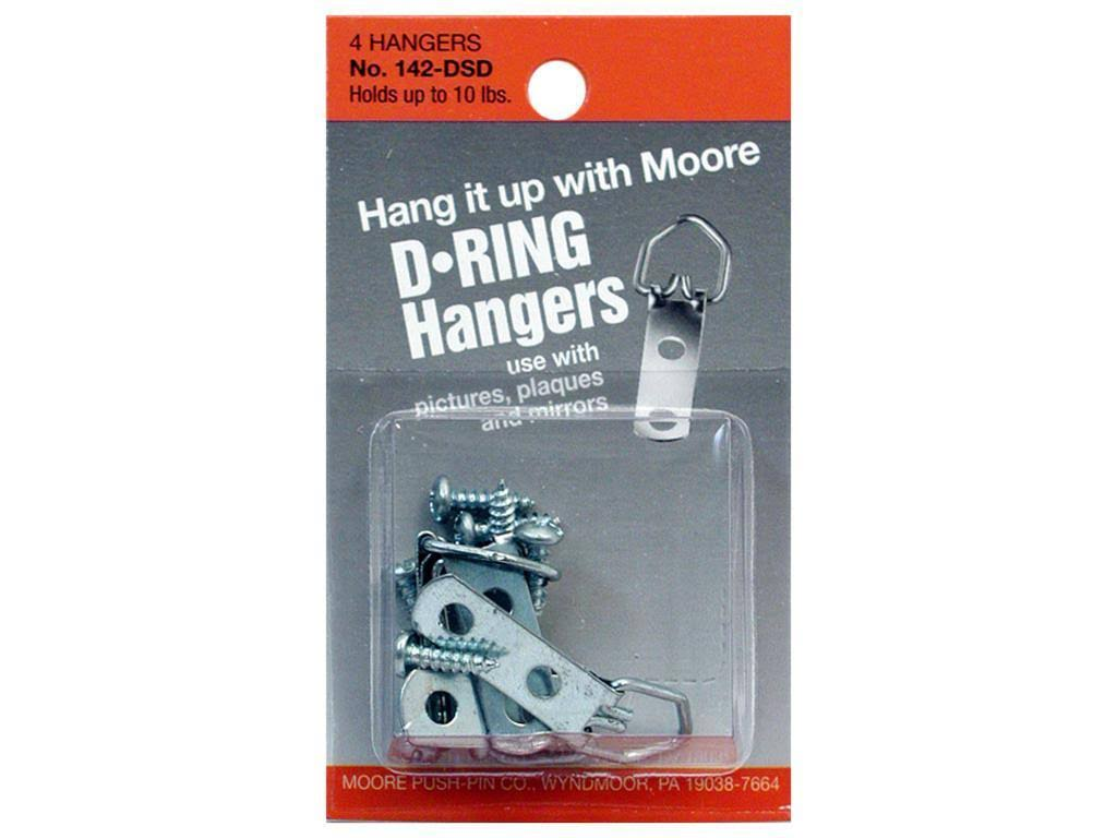 Moore D Ring Small 2 Screws - 4 Pieces