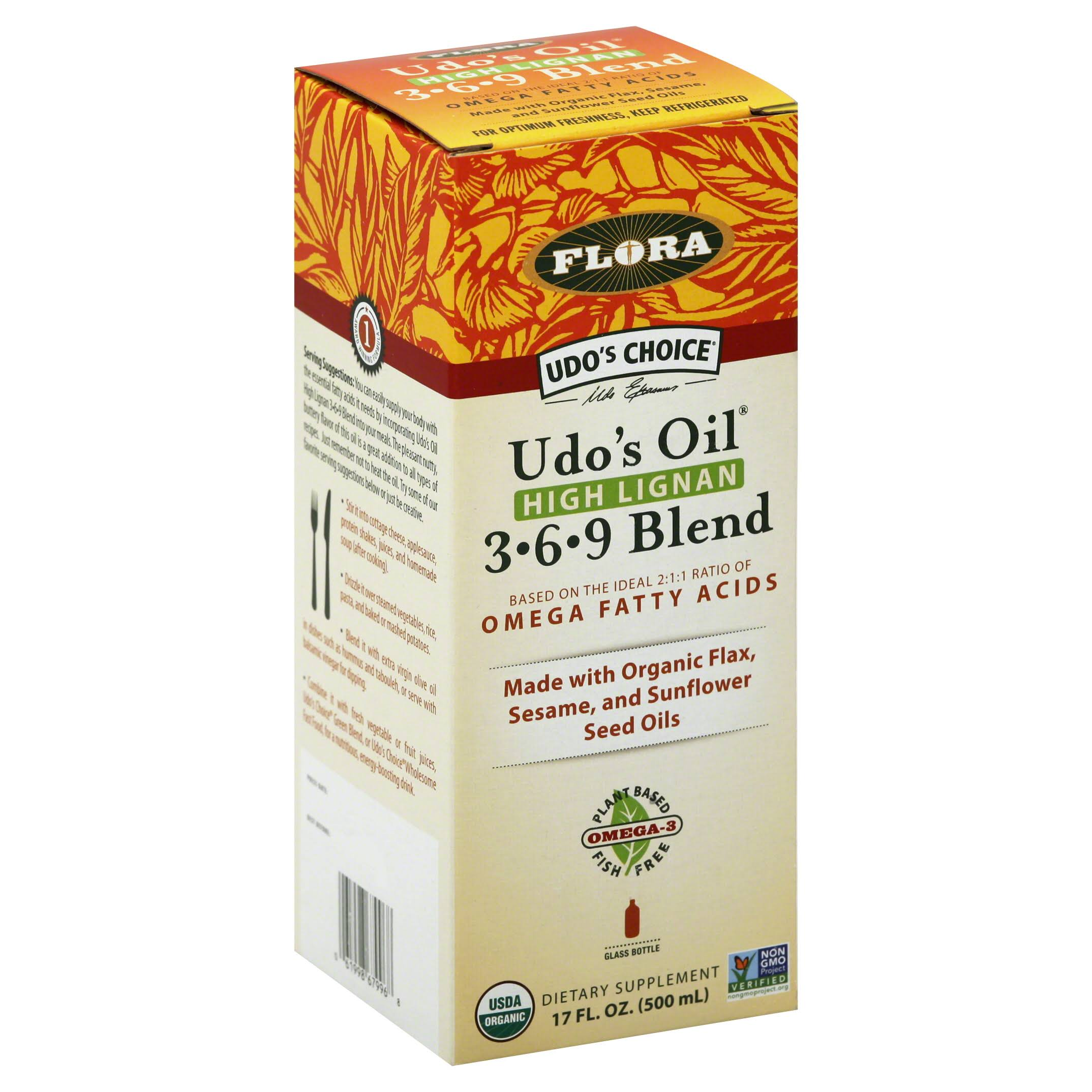 Flora Udo's Choice Udo's Oil 3-6-9 Blend - 17oz
