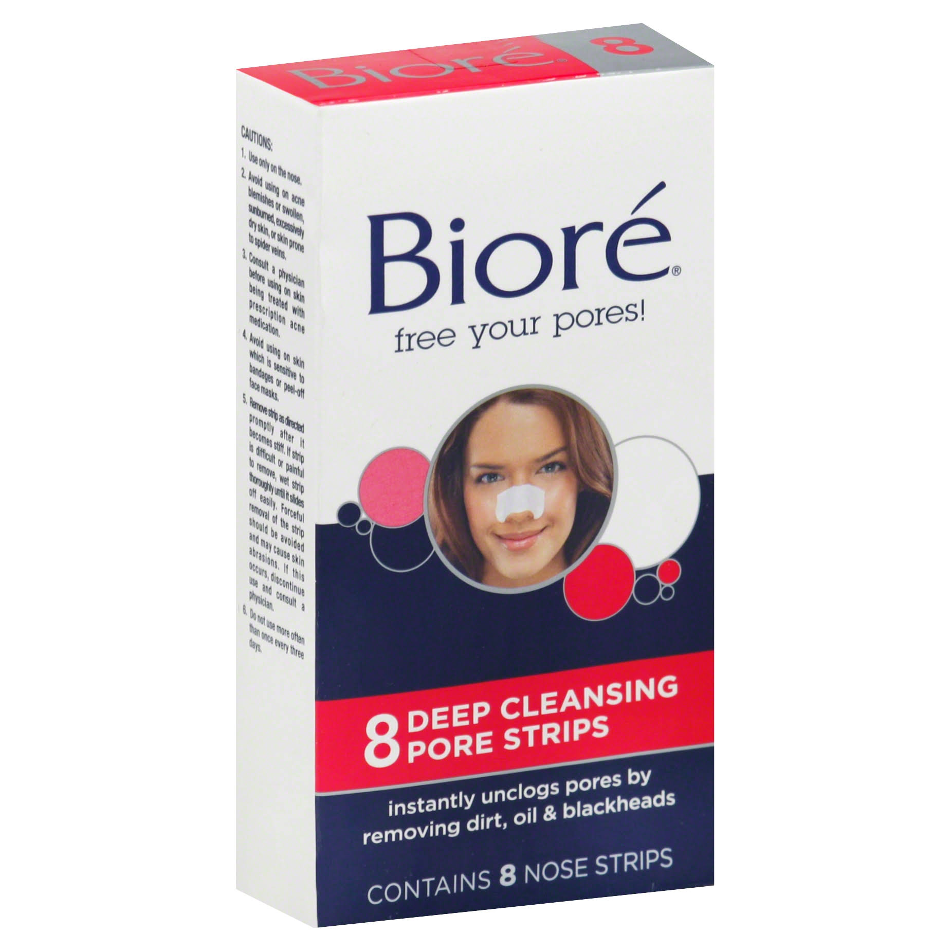 Biore Pore Strips - 8 Deep Cleansing Pore Strips