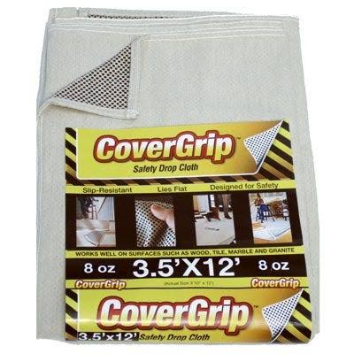 Covergrip Canvas Safety Drop Cloth - 3.5' X 12'