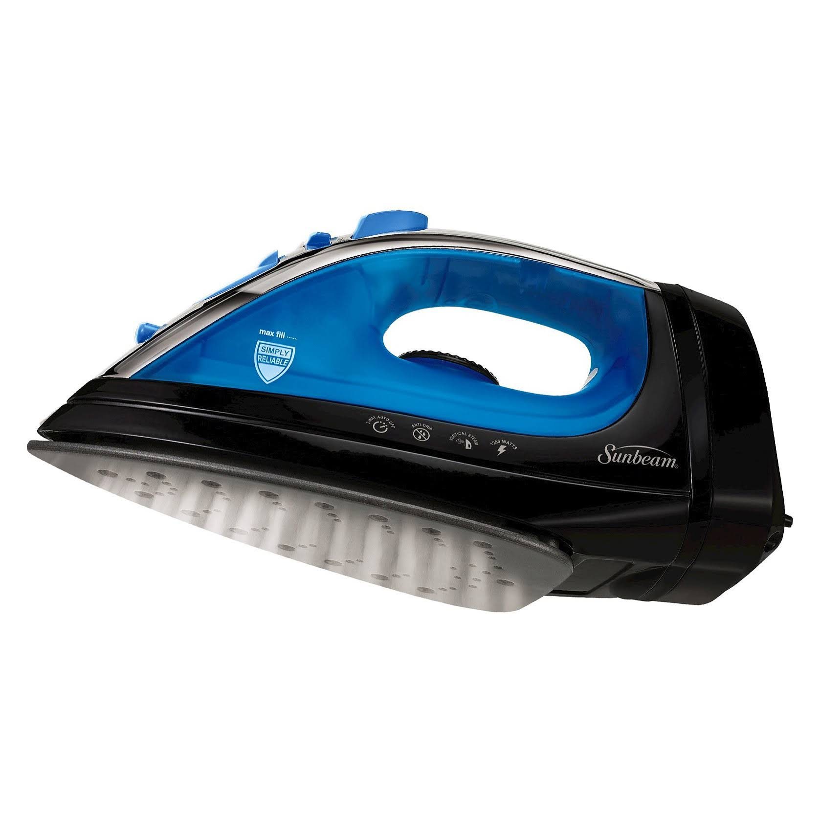 Sunbeam Steam Master Iron with Retractable Cord Black & Blue