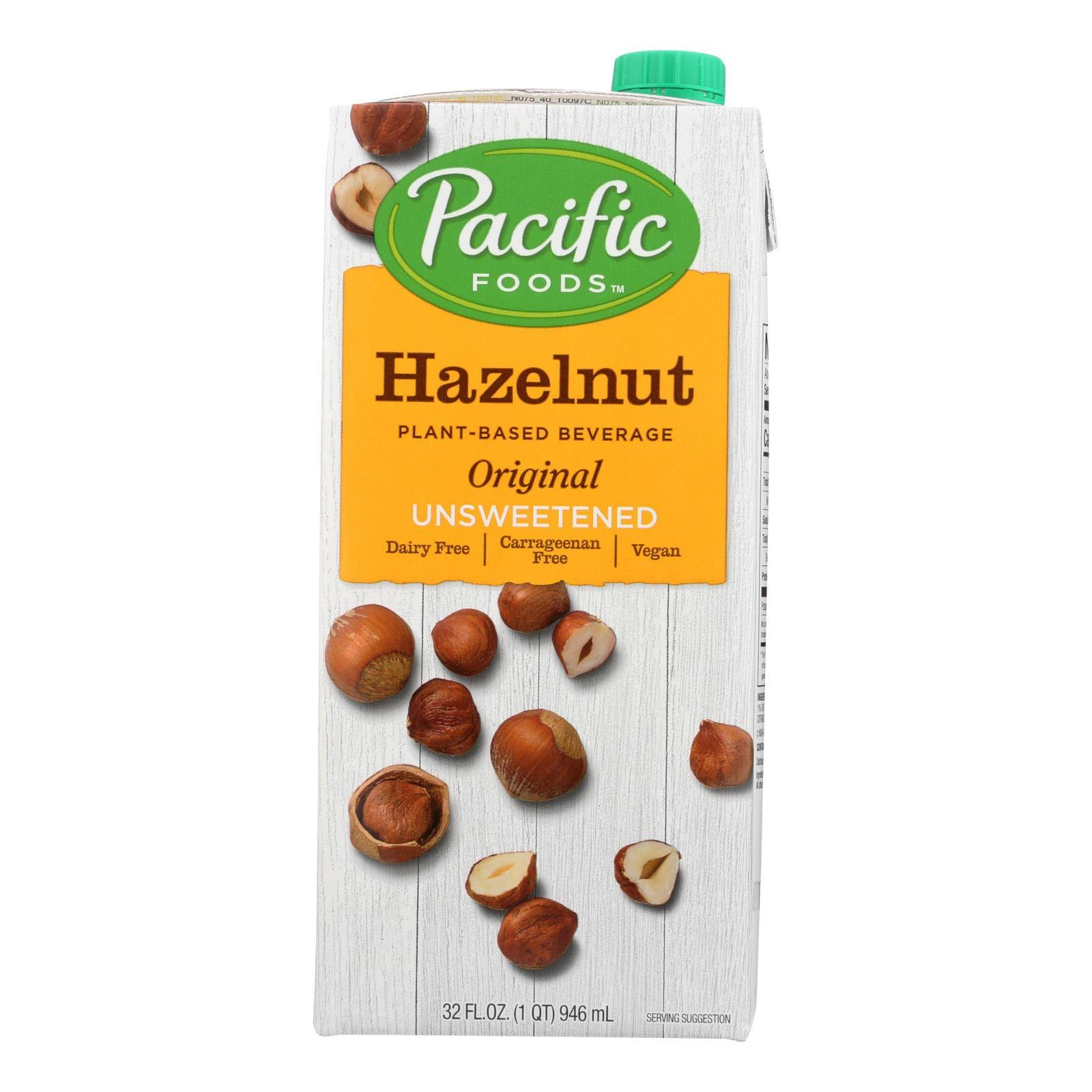 Pacific Foods Hazelnut Original Plant Based Beverage - Unsweetened, 32oz
