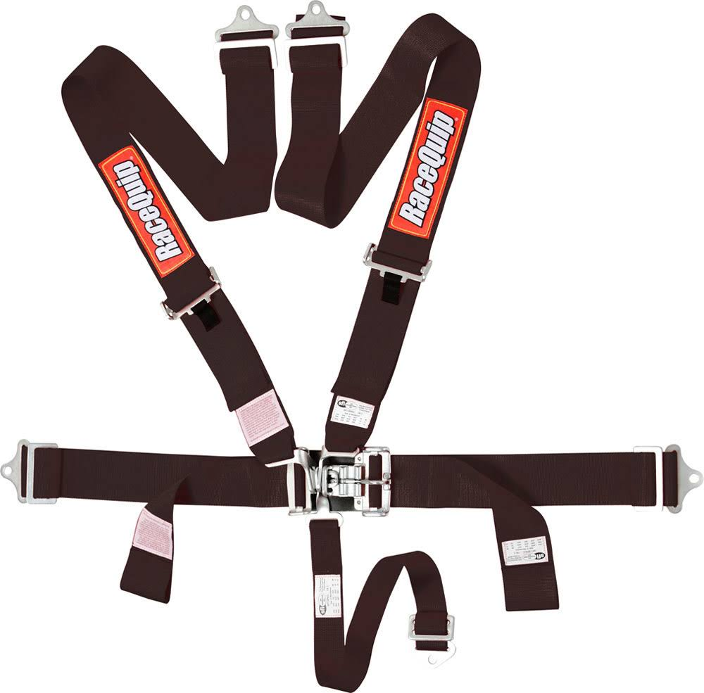 Racequip Safequip Latch And Link 5 Point Harness - Black