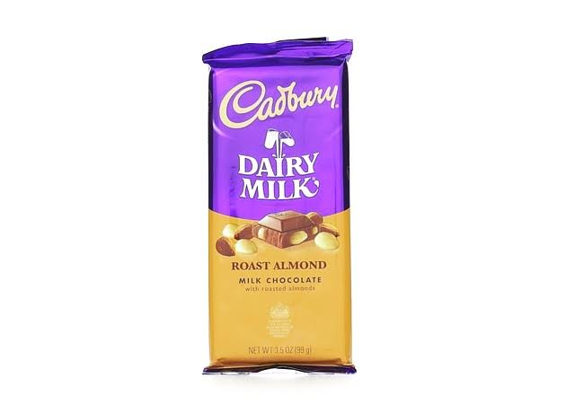 Cadbury Milk Chocolate Bar - Roast Almond, 3.5oz