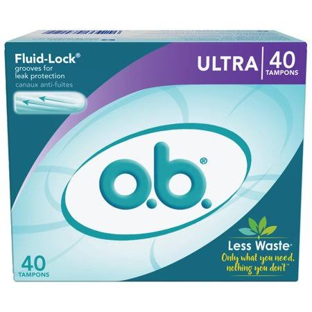 o.b. Applicator Free Digital Tampons - Ultra, 40 Pack