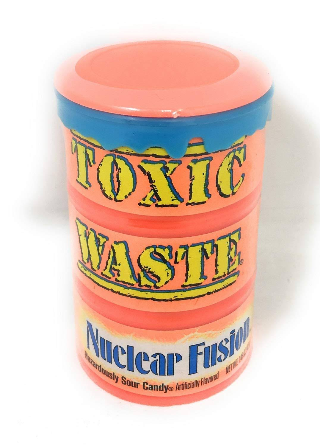 Toxic Waste Nuclear Fusion Drums Extreme Sour Candy - 1.48oz, 12ct