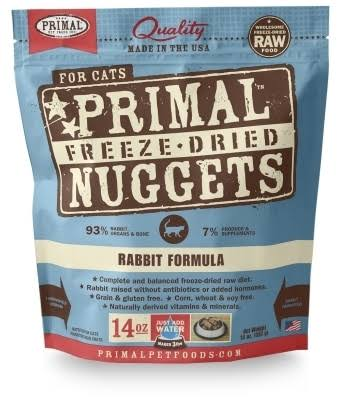 Primal Freeze Dried Cat Food - Rabbit Formula - 5.5 oz.