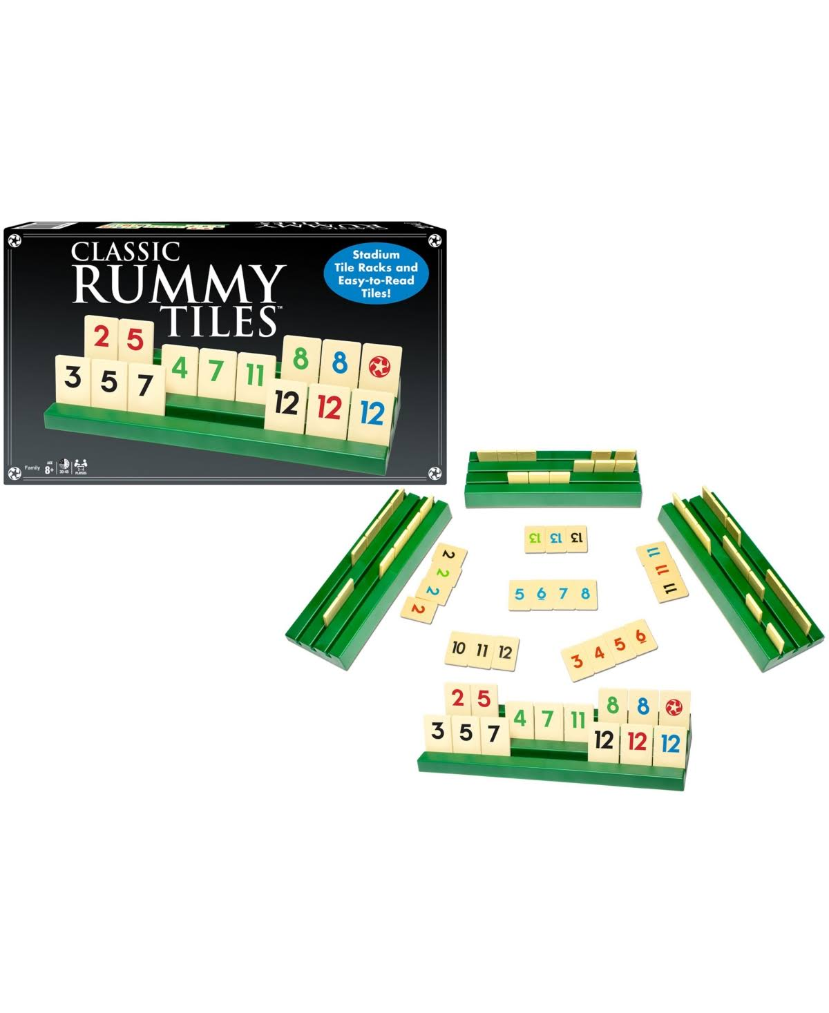Winning Moves Classic Rummy Tiles Game