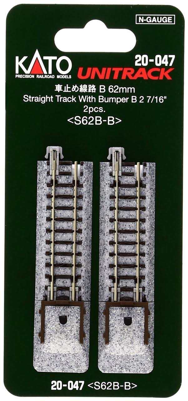Kato 20-047 Bumper Type B S62B-B Track Train Toy - N scale, 62mm