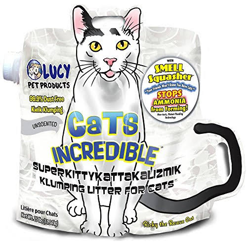 Lucy Pet Products Cats Incredible Unscented Superkittykattakalizmik Klumping Litter
