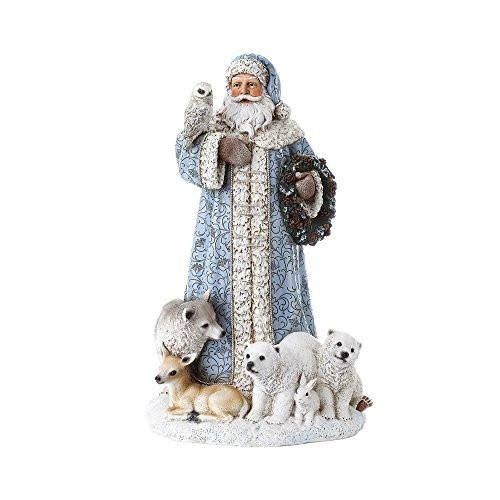Roman Santa With Woodland Animals Figurine